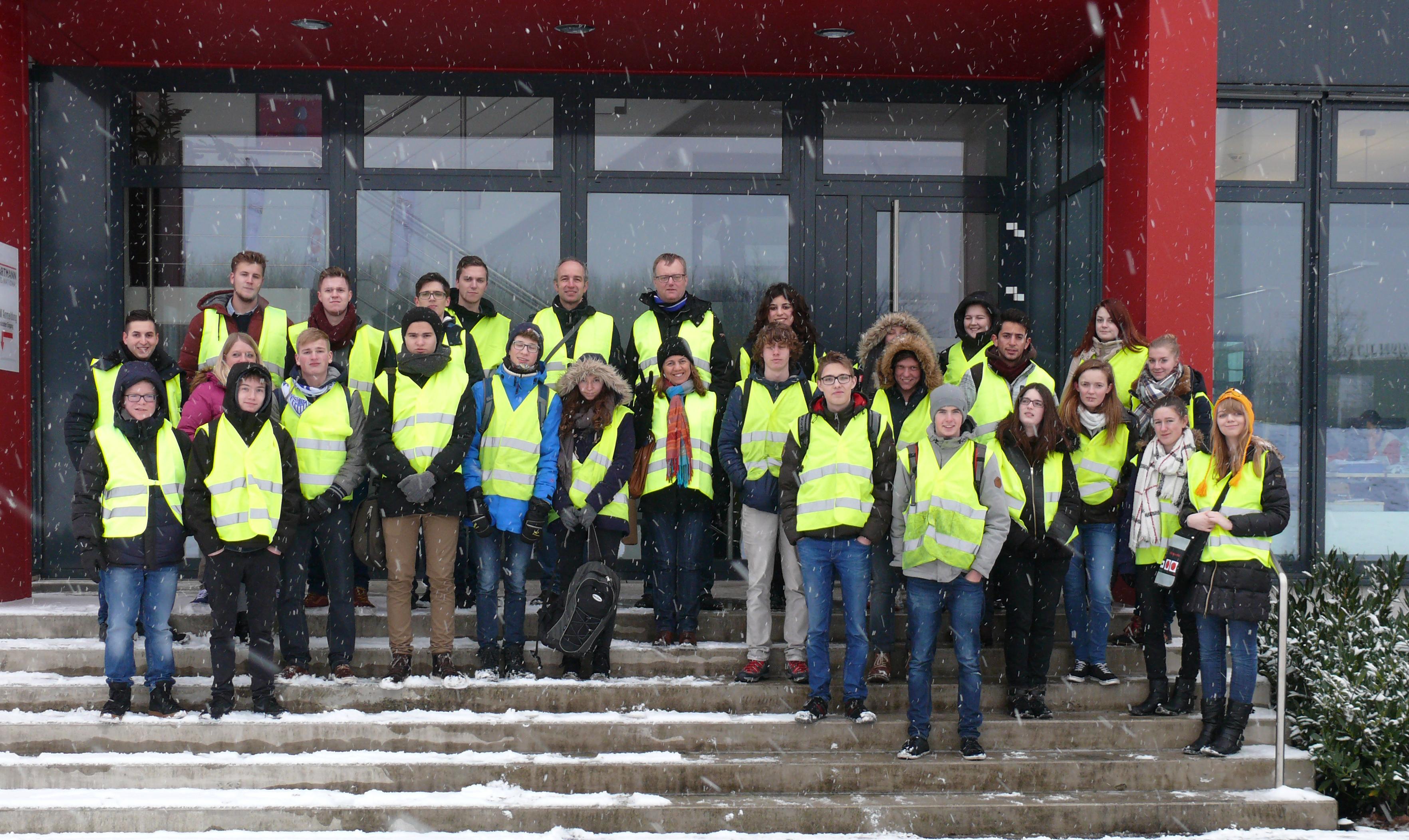 ERASMUS-Austauschschüler mit unsere Auszubildenden (2. Lehrjahr) bei Hartmann International